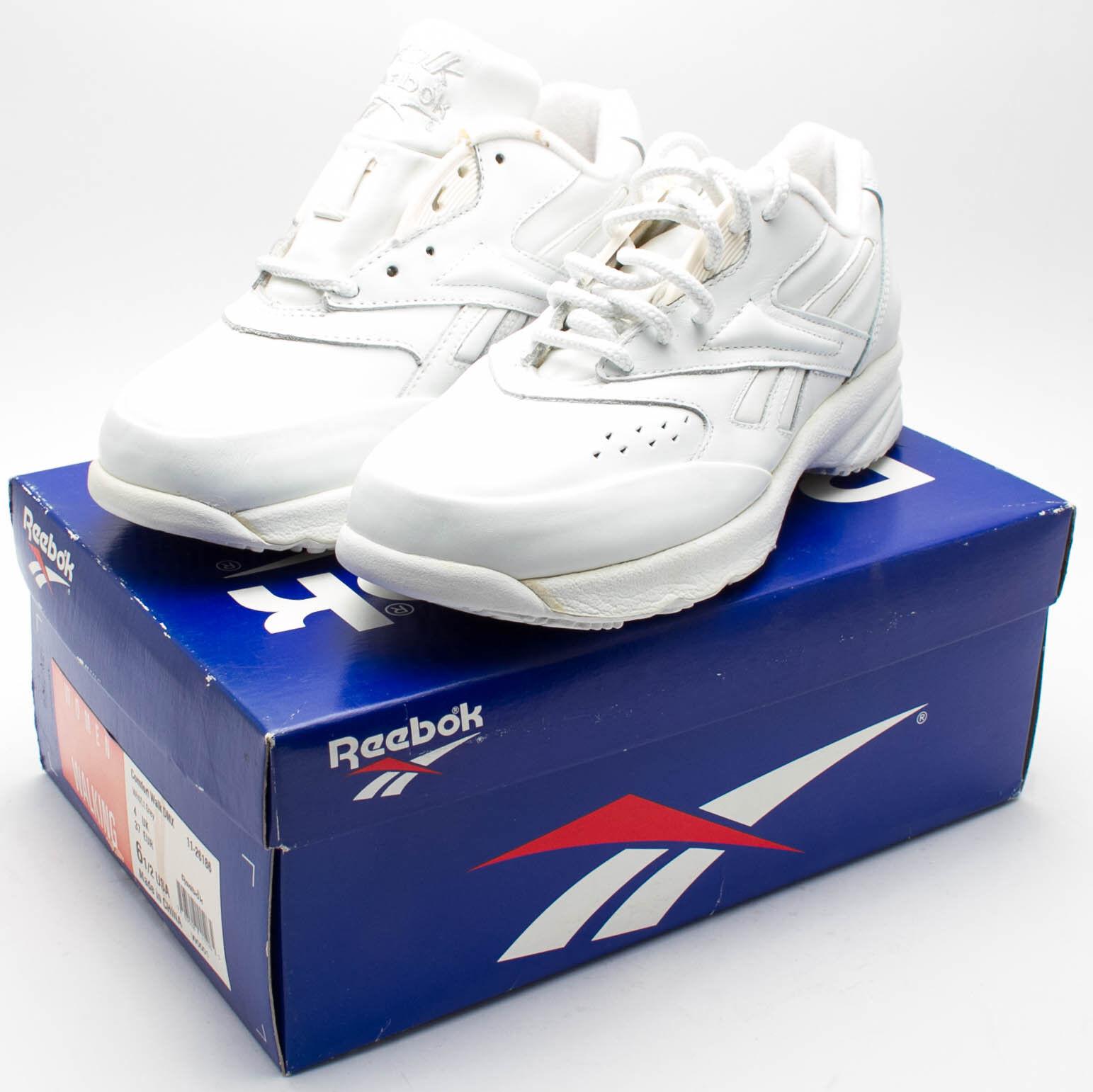 Reebok Women's Vintage 1990's OG Comfort Walk DMX Shoe 11-26186 White sz. 6.5