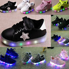 Kids Boy Girl Flash LED Light Up Sports Running Shoes Child Casual Mesh Sneakers