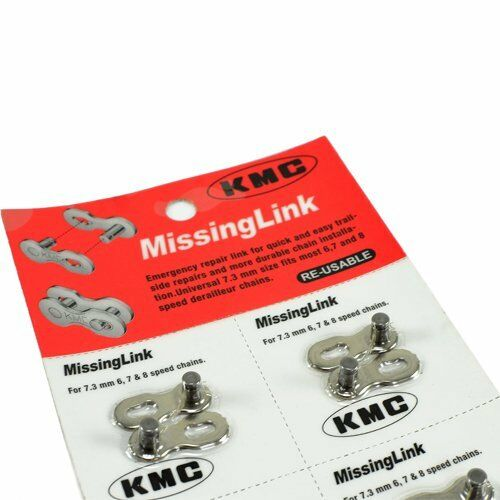 2 pairs KMC RE-USABLE Missing link 6//7//8 speed