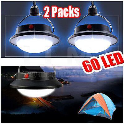 2X Portable 60 LED Camping Outdoor Light Tent Umbrella Night Lamp Lantern Hiking