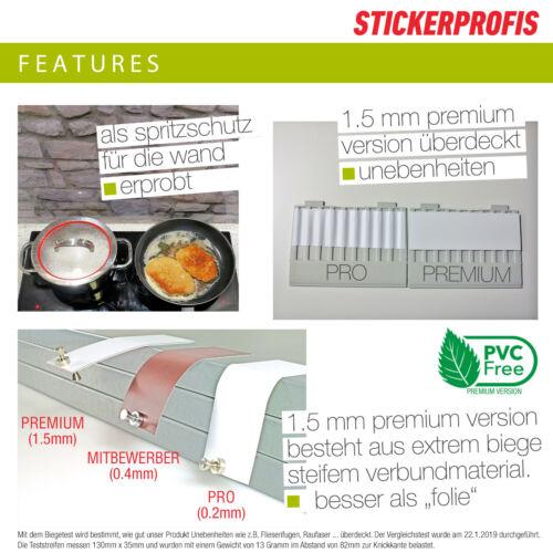 SUNDOWNER Küchenrückwand 1.5mm Hartschicht alle Untergründe versteift