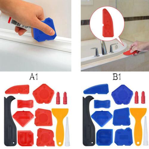 12 x Silicone Angle Scraper Caulking Glass Shovel Shovel Cleaning tool Set vbg