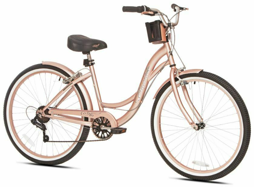 Women Cruiser Bike Beach City Urban Lightweight Frame Padded Seat Fender Bicycle
