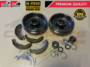 FOR-PEUGEOT-206-1-1-1-4-REAR-BRAKE-DRUMS-SHOES-FITTING-KIT-WHEEL-BEARINGS-NO-ABS