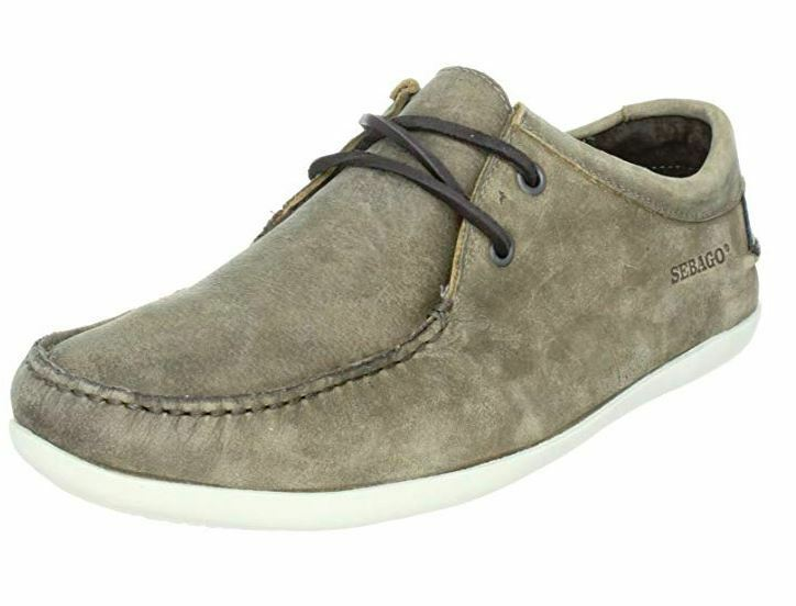 Men's Sebago TRIGGS Leather Sailing Boat Casual Walking Boots Brown shoes Size