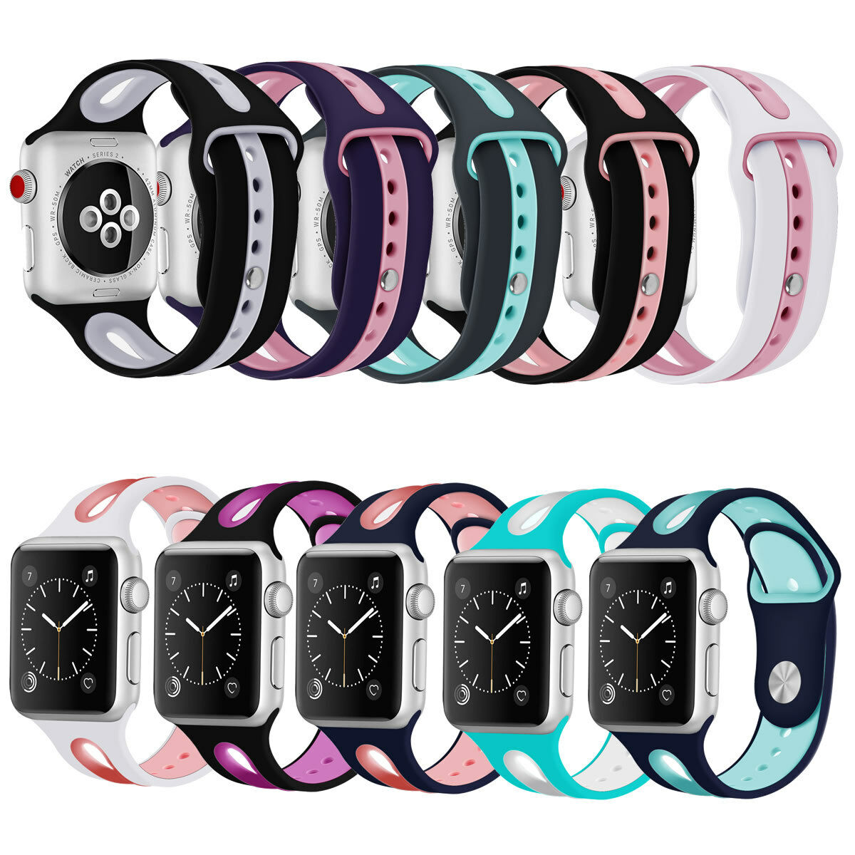 iwatch: For Apple Watch For iWatch Bracelet Sport Wristwatch Band Strap 38 40 42 44mm