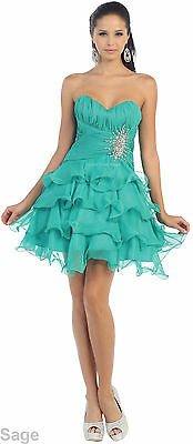 SALE ! SHORT SEMI FORMAL PROM COCKTAIL PARTY HOMECOMING BRIDESMAIDS DRESSES CUTE