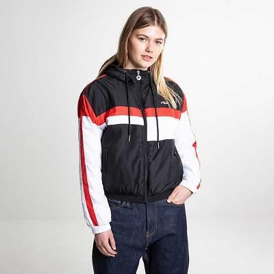 Fila Alana Padded Jacket Women's Light Black Bright White Red 682328 I22 | eBay