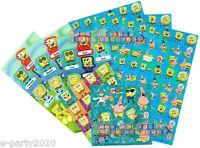 (8 Sheets) Spongebob Stickers Assortment Birthday Party Supplies Favors