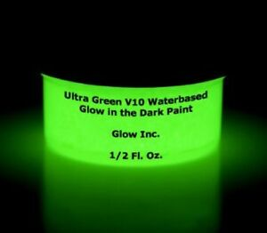 Glow Inc. Ultra Green V10 Water Based Glow in the Dark Paint (1/2 Pint)