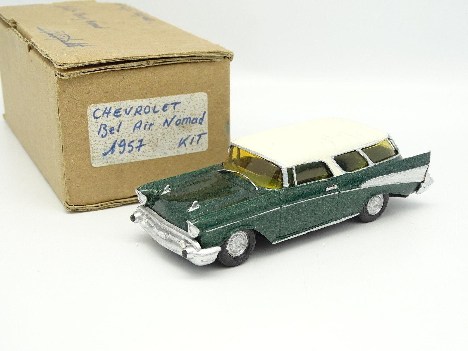 BD Mini Auto Kit Monté 1 43 - Chevrolet Bel Air Nomad 1957 Verte