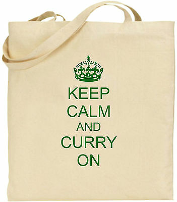 Keep Calm And Curry Auf Großen Baumwolltasche Einkaufstasche Lustige Geburtstag