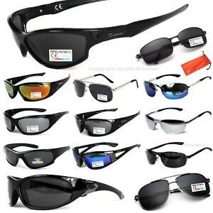 Herren-Sport-Sonnenbrille-Polarisiert-oder-Verspiegelt-Gangster-Carbon-Rennec