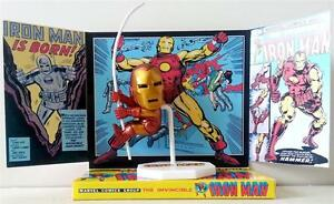 IRON-MAN-Marvel-Comic-Superhero-Mini-ACTION-FIGURE-on-Custom-Display-DIORAMA