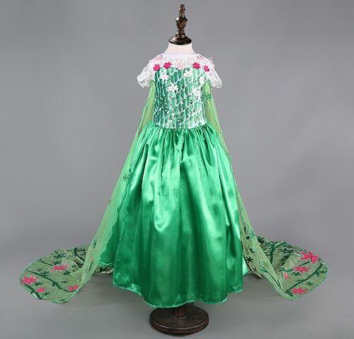 Cosplay Dress Elsa Anna Kids Girls Dresses  Costume Princess Party Fancy *