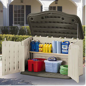 Gentil Image Is Loading Rubbermaid 135 Gallon Horizontal Storage Shed