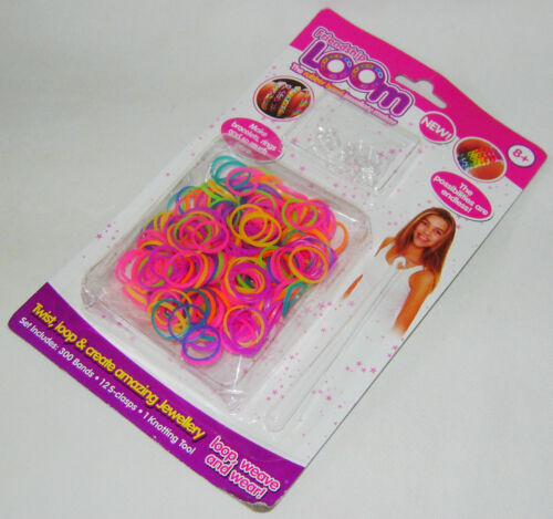 NEW 300 ELASTIC RUBBER BANDS FOR FRIENDSHIP LOOM HOOK /& CLASPS PMS 544001CD SALE