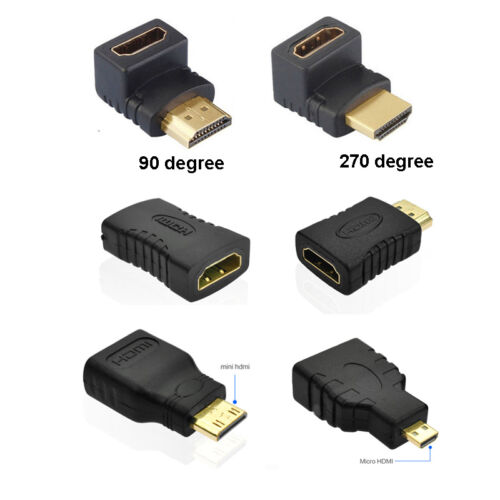 SE Male to Female Extension Adapter Converter Mini Micro HDMI Cable Connector