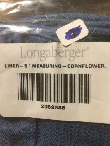 "Longaberger 5/"" Measuring Basket Oatmeal Fabric Over Edge Liner Only"