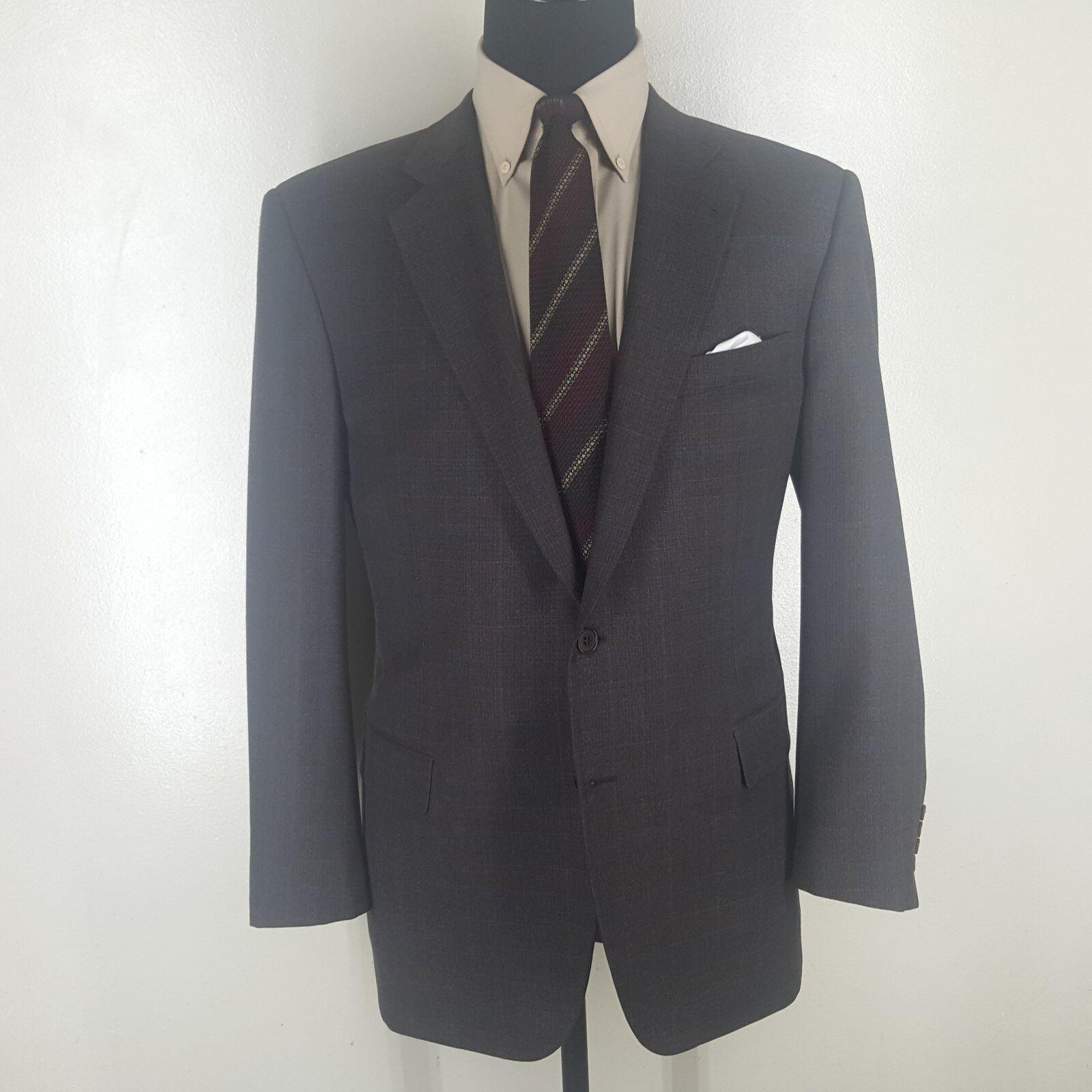 ZANELLA Made In  Sport Coat 2 Btn No Vents Wool & Cashmere  Fit 42- 44 Reg