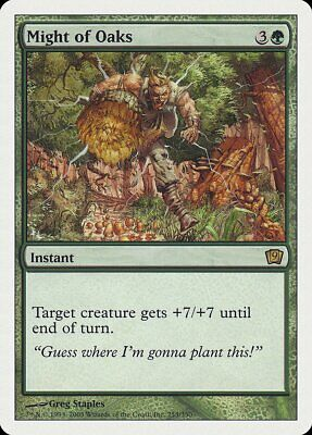 Might of Oaks FOIL 9th Edition NM Green Rare MAGIC THE GATHERING CARD ABUGames
