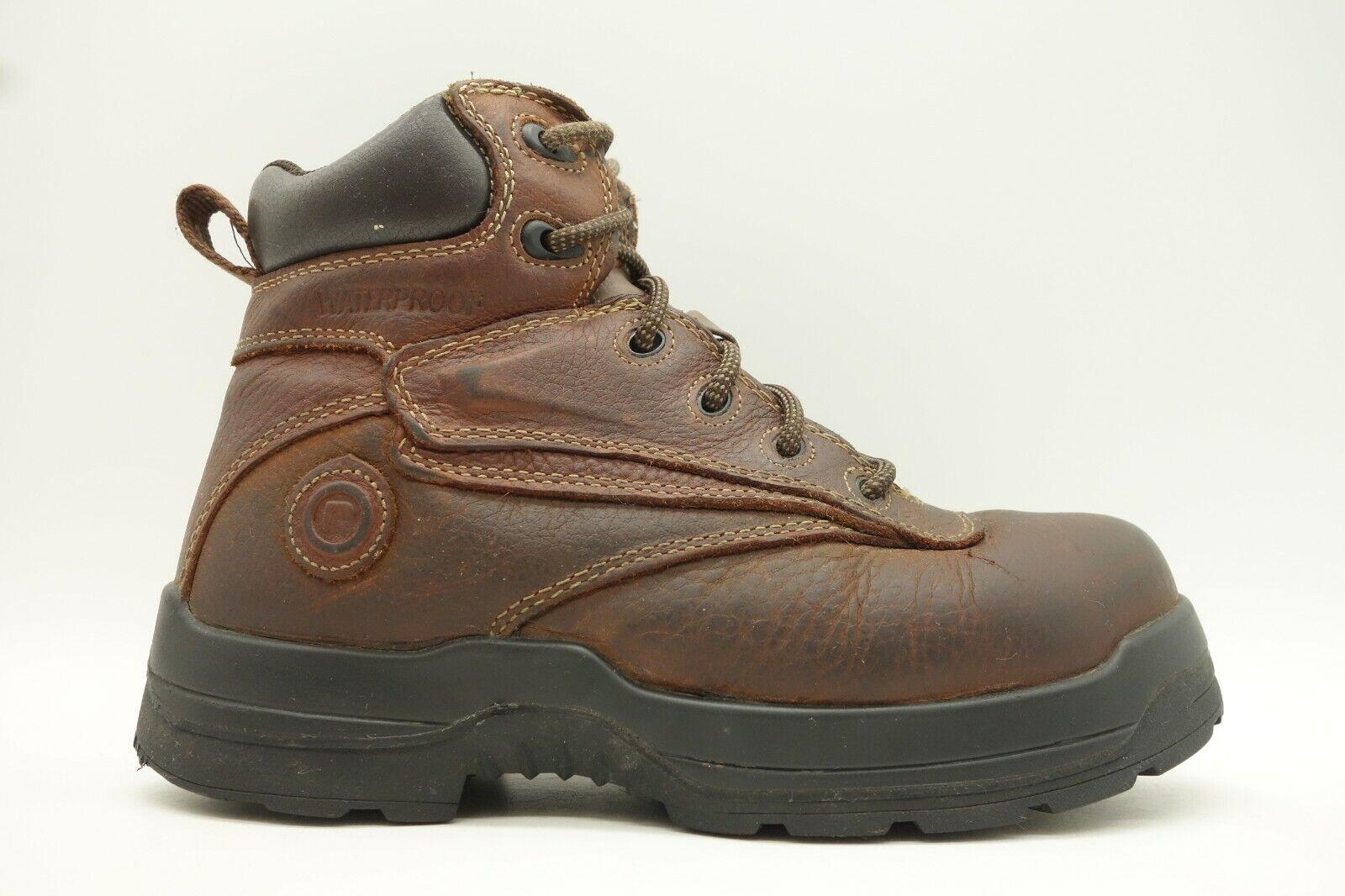 Rockport en cuir marron à lacets randonnée outdoor Bottines Femme 7.5