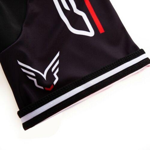 Mens Short Sleeve Cycling Cycle Jersey Bib Shorts Set Bike Shirt Tights Black