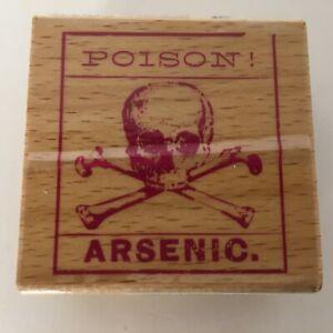 Studio-G-Hampton-Art-Halloween-Skull-Toxic-Wood-Mounted-Rubber-Stamp-Card-Making