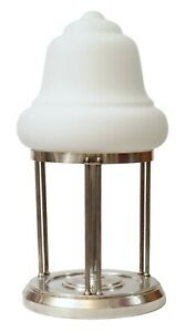 Aussergewoehnliche-Art-Deco-Tischleuchte-Tischlampe-versilbert-Einzelstueck