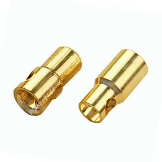 100 Pairs  6.0mm oro Bullet Connector plug For RC Battery  supporto al dettaglio all'ingrosso