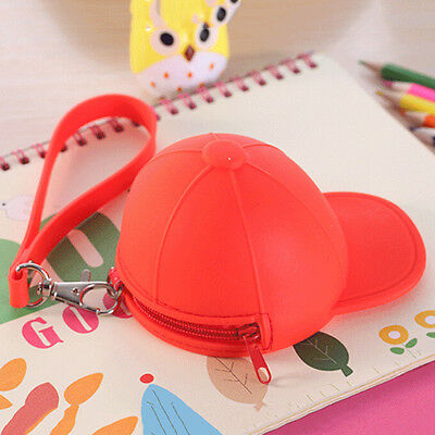 Women Cute Purse Hat Silicone Waterproof Wallet Pouch Coin Bag lovely gift M&O