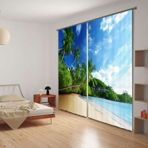Animals Sea Starry Sky 3D Curtain Blockout Drapes Fabric Photo Printing Window