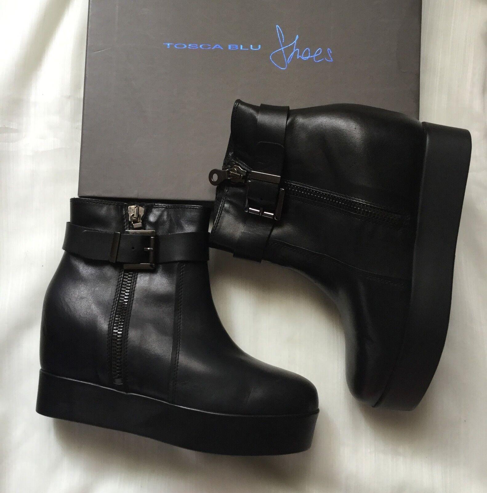 Trendy boots TOSCA blue Women, black black black color, size  40, wedge  Stivaletti alla moda 46591e