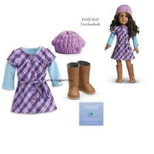 "American Girl MY AG PRETTY & PLAID DRESS for 18"" Dolls Retired NEW"