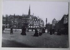 Carte postale Paris 1900,Pont St Michel,Quai des Orfevres,Liebig postcard