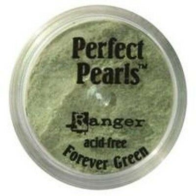FOREVER GREEN Perfect Pearls Pigment Powder 1oz Jar - Ranger