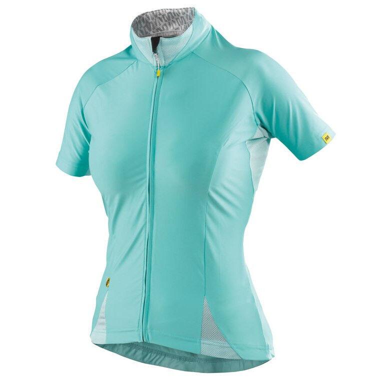 Mavic Women's Cloud Cycling Jersey Size US Large Azure bluee w Arm Warmers New