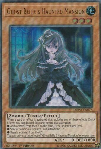 Yugioh! Ghost Belle & Haunted Mansion - DUPO-EN078 - Ultra Rare NM 1st Ed