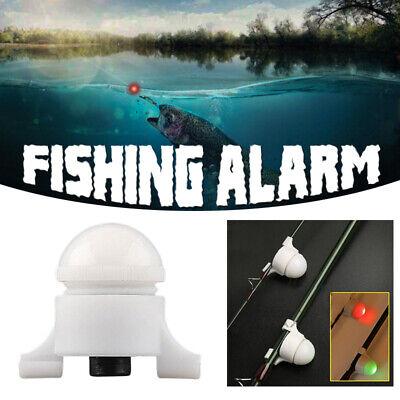 LED Night Fishing Rod Tip Clip On Fish Strike Bite Alert Alarm Light Alert Glow