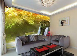 3D-Waterfall-water-424-WallPaper-Murals-Wall-Print-Decal-Wall-Deco-AJ-WALLPAPER