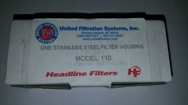 Headline Filters Model 112S Stainless Steel CNG High Pressure Filter 5000 PSIG