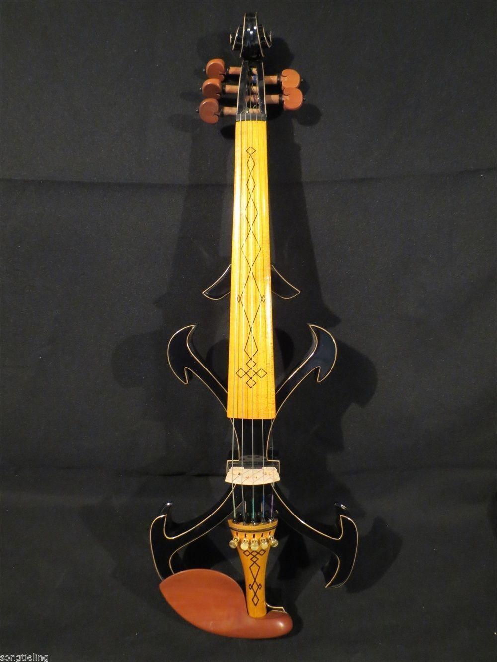 SONG Brand Top art Crazy-2 schwarz 5 strings 4 4 electric violine,resonant sound