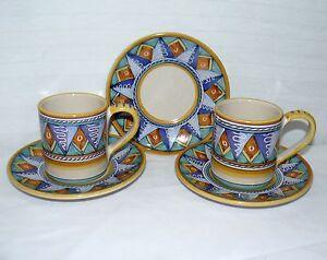 Starbucks Set Cup Amp Saucers 3 Plates Amp 2 10 Oz Coffee Mugs