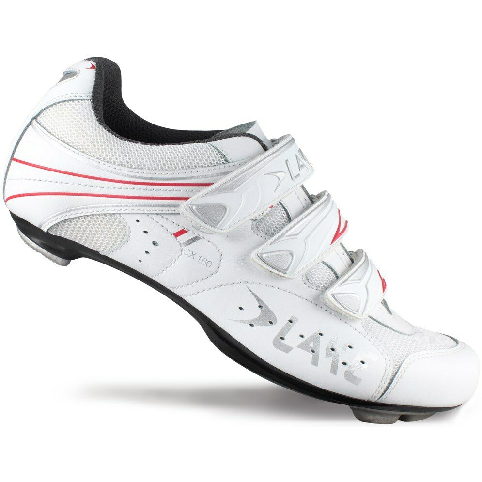 Lake CX160-W Women's White Red Road shoes