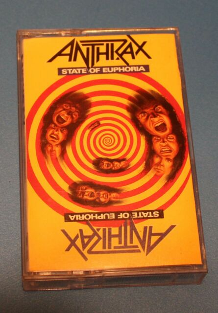 State of Euphoria by Anthrax (Cassette, Jun-1988, Island Records)