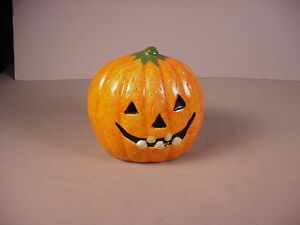 image is loading vintage halloween pumpkin ceramic planter jack o lantern