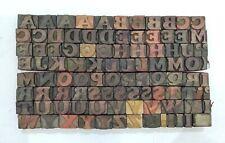 Vintage Letterpress Woodwooden Printing Type Block Typography 97 Pc 16mmtp 81