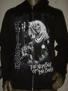 New-Men-039-s-Small-Iron-Maiden-The-Number-Of-The-Beast-Metal-Band-Hoodie-Sweater