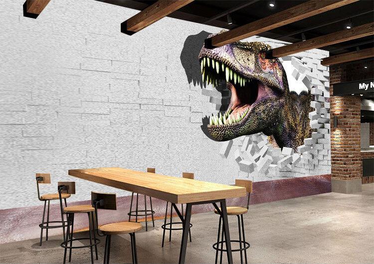 3D Dinosaurier Ziegelstein 844 Tapete Wandgemälde Tapeten Bild Familie DE Lemon