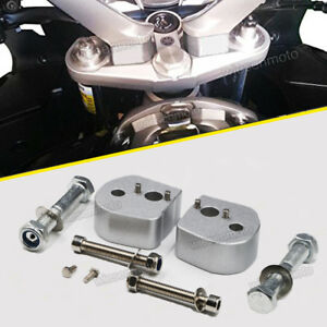 Silver Handlebar 25mm Riser Spacer Kit for 2014-up Yamaha XT1200Z Super Tenere